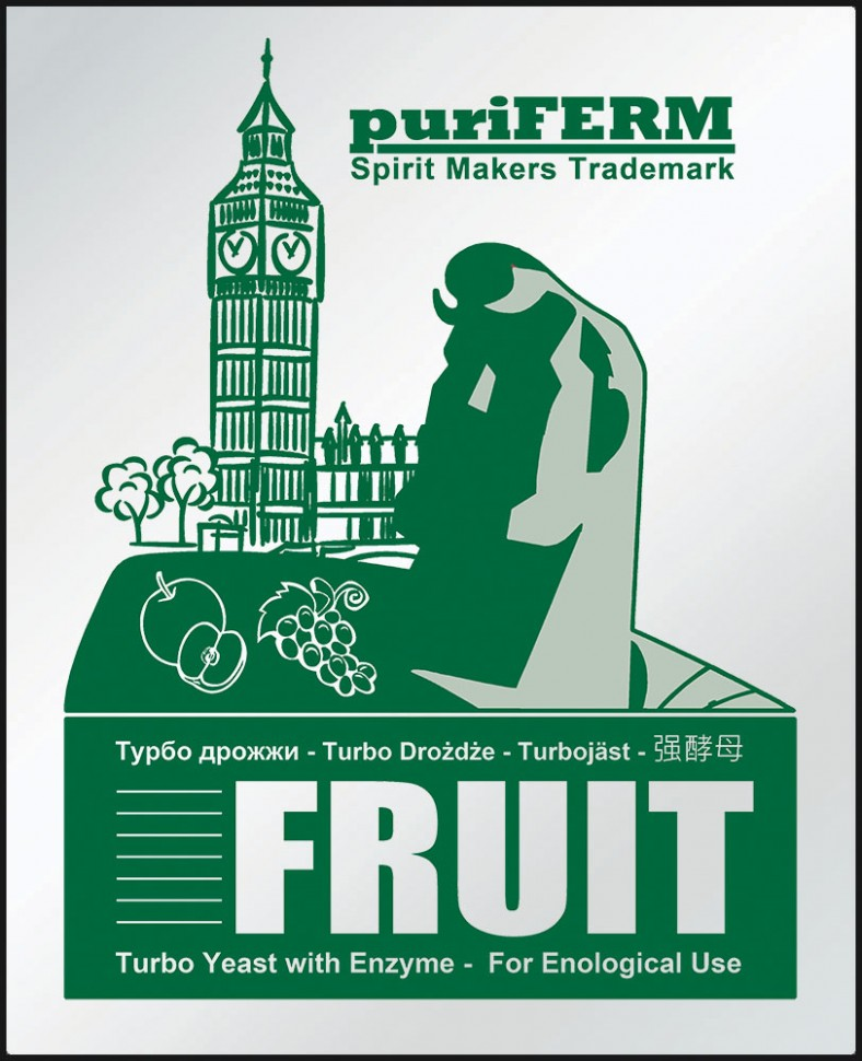 "Дрожжи ""Puriferm Fruit Turbo""."