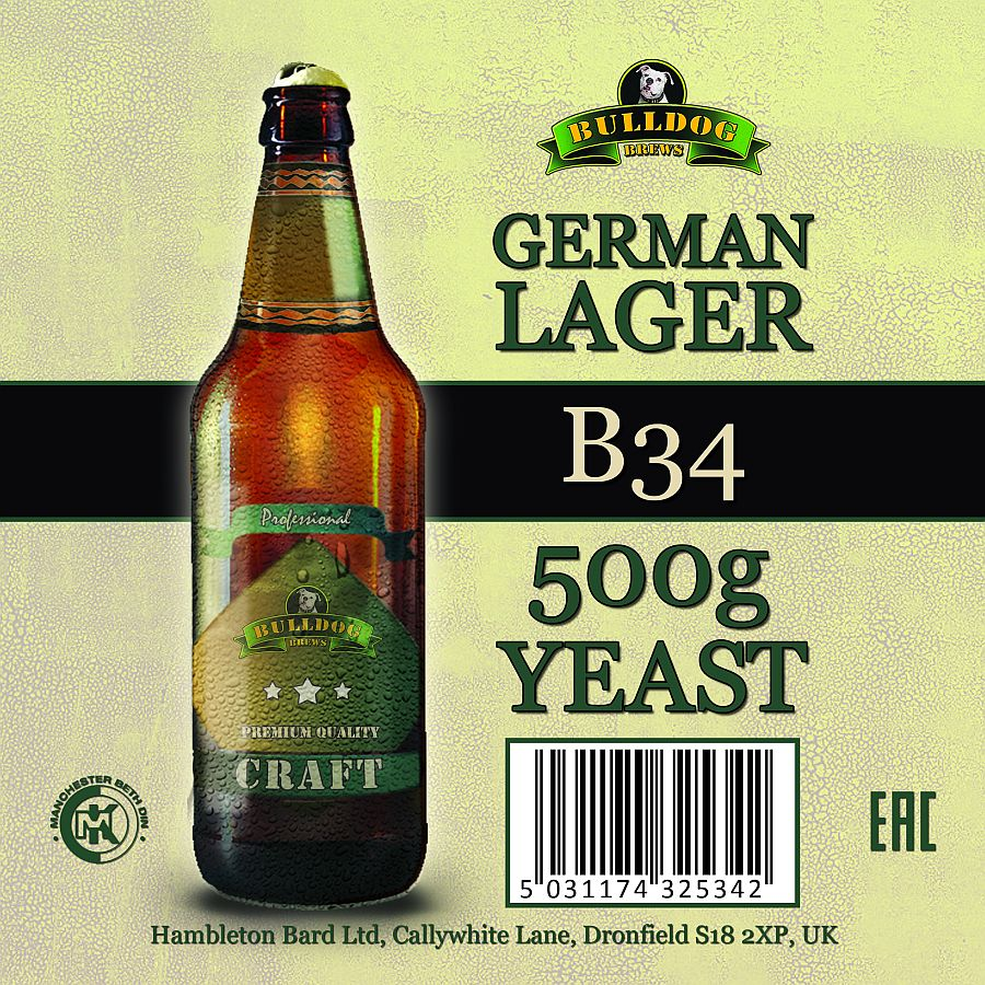 "Дрожжи ""Bulldog B34 German Lager""."