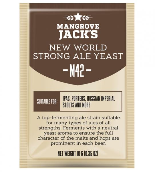 "Дрожжи ""MANGROVE JACK*S, New World Strong Ale M42""."